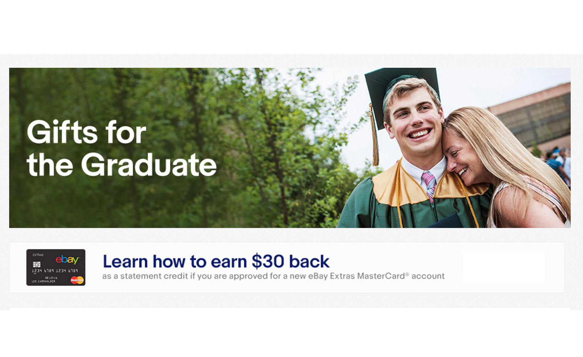 Ebay Ad with Grad